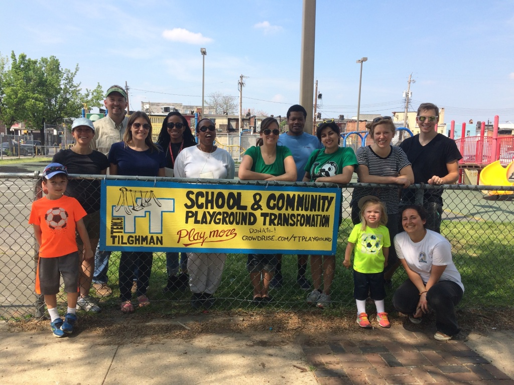 CCHR Volunteer Day- Tench Tilghmam Playground